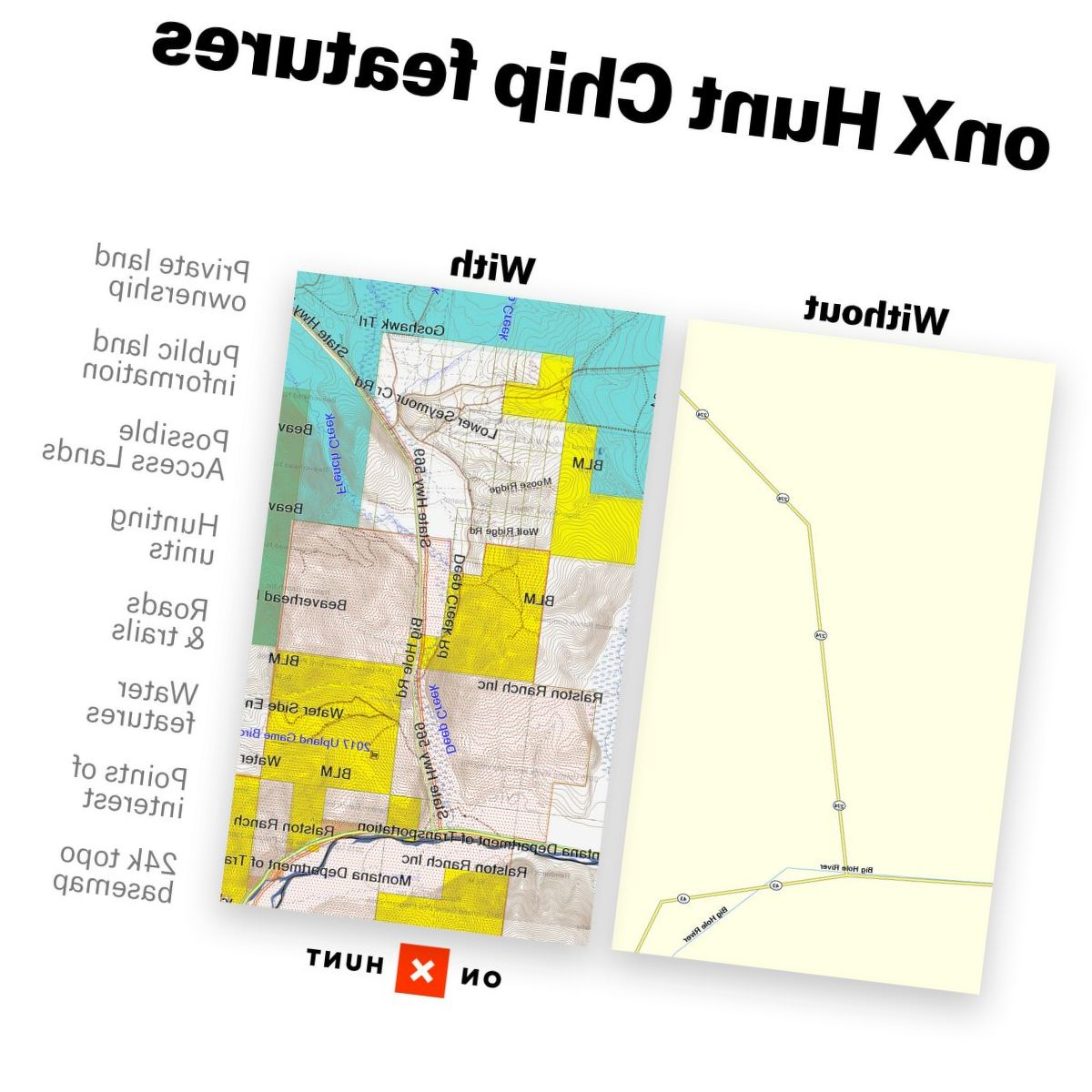onXmaps Hunt Land Ownership GPS State Hunting Maps
