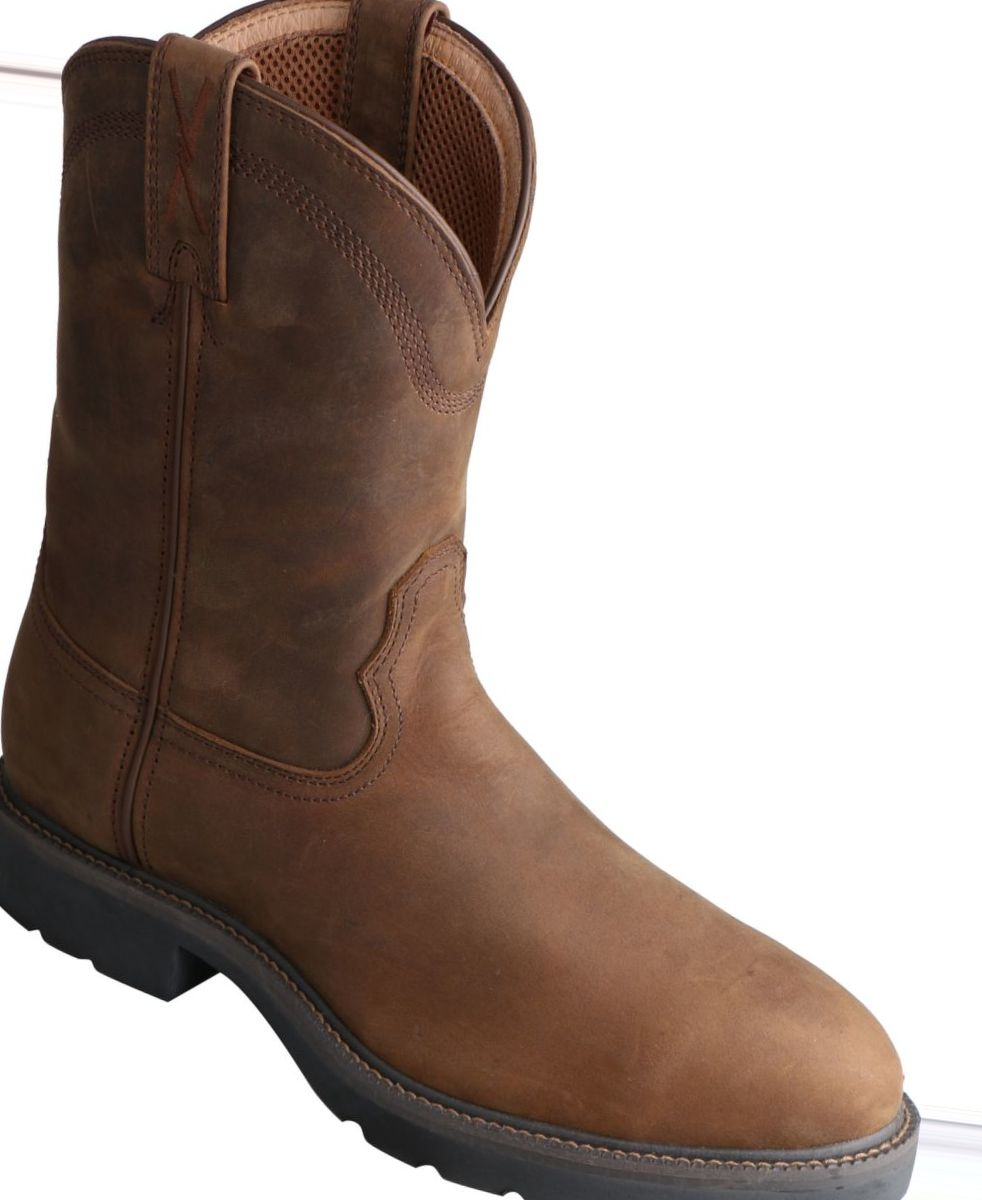 Twisted X Men's Pull-On Round-Toe Work Boots