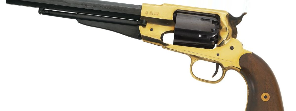 Pietta Model 1858 New Army Brass Frame .44-Caliber Black Powder Revolver