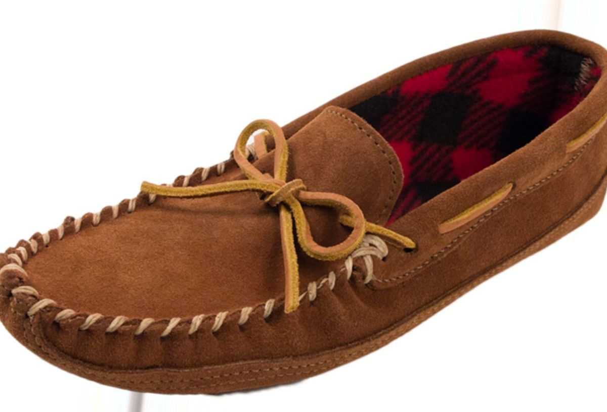 Minnetonka® Men's Double-Bottom Fleece Slipper Mocs