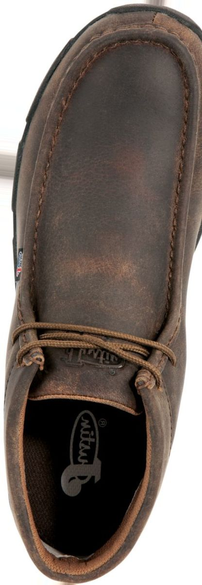 Justin Boots® Men's 232 Waxy Dark Brown Driver Moc Casual Shoes