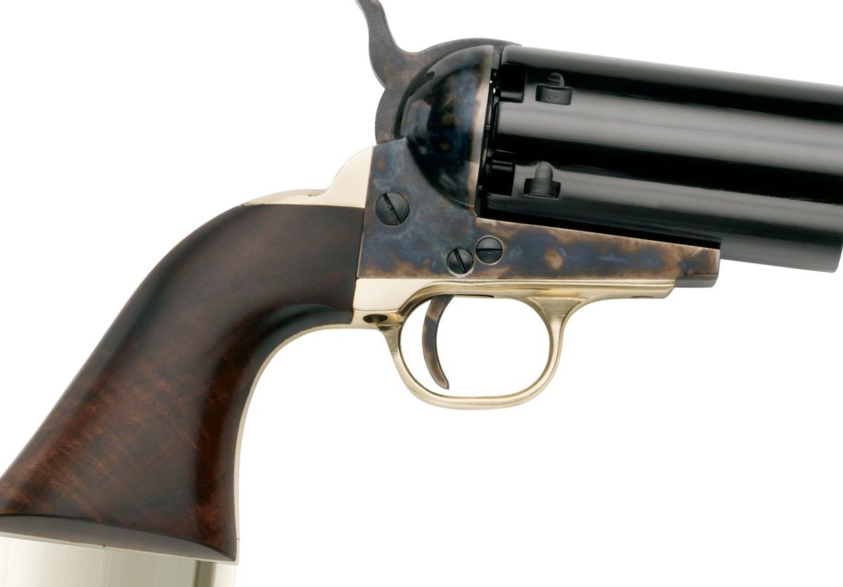 "Pietta Model 1851 Navy ""Yank"" Pepperbox .36-Cal. Black-Powder Revolver"