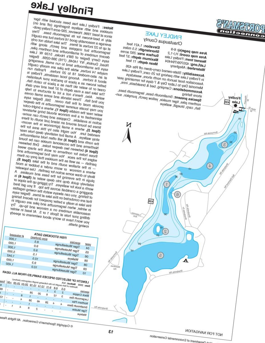 Sportsman's connection New York Fishing Map Guides