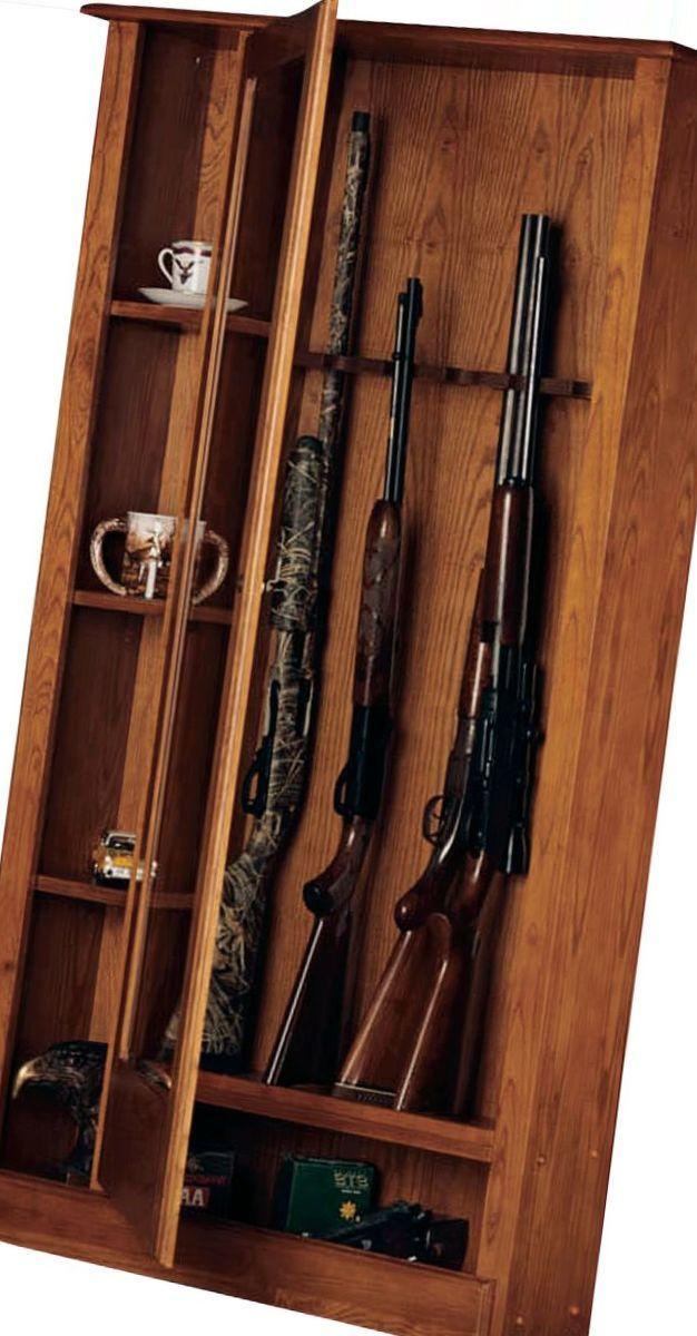American Furniture Classics 10–Gun/Curio Cabinet Combo