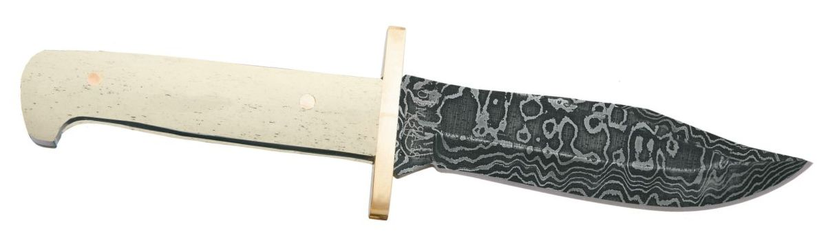 Bear & Son Cutlery® Damascus Baby Bowie Knife