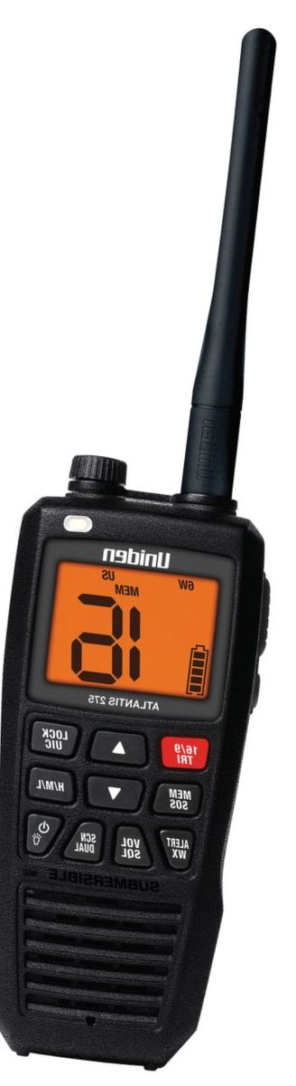 Uniden® Atlantis 275 Floating VHF Handheld Marine 2-Way Radio