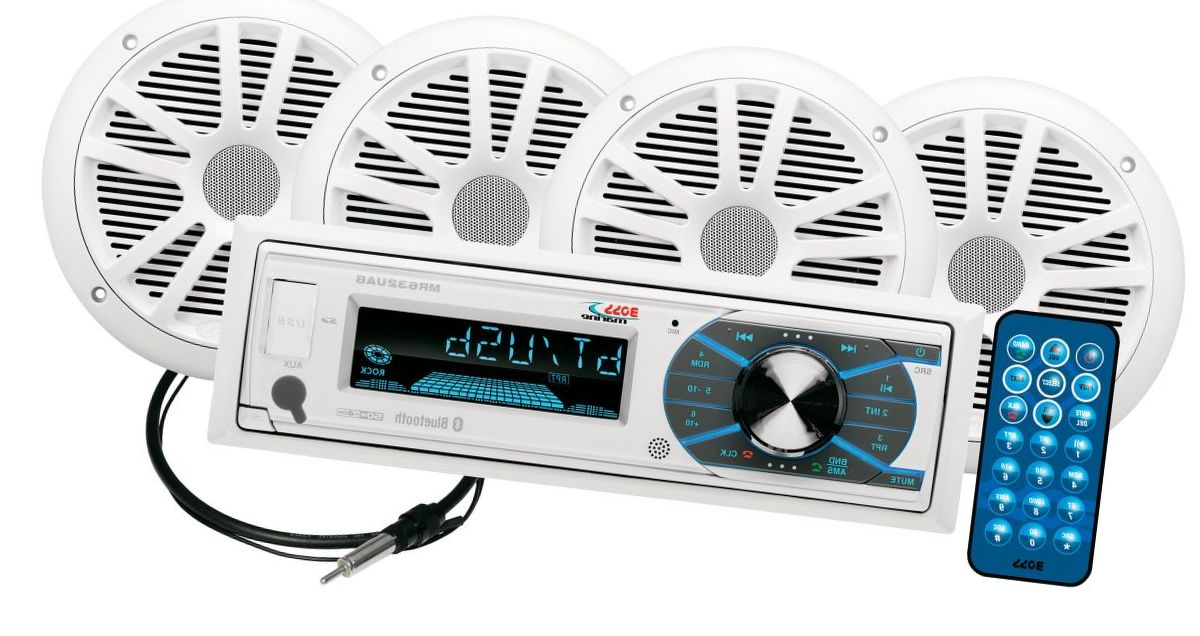 Boss Audio MCK632WB.64 Marine Stereo Package with Bluetooth®