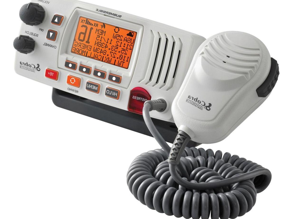 Cobra® Gimbal Mount VHF Radio with Rewind