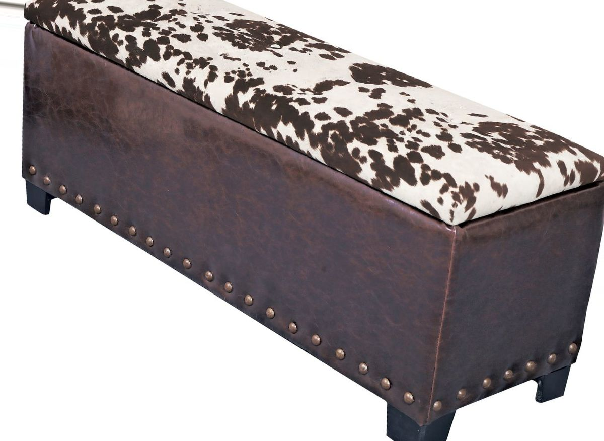 American Furniture Classics Udder Madness Cowhide Gun-Concealment Bench