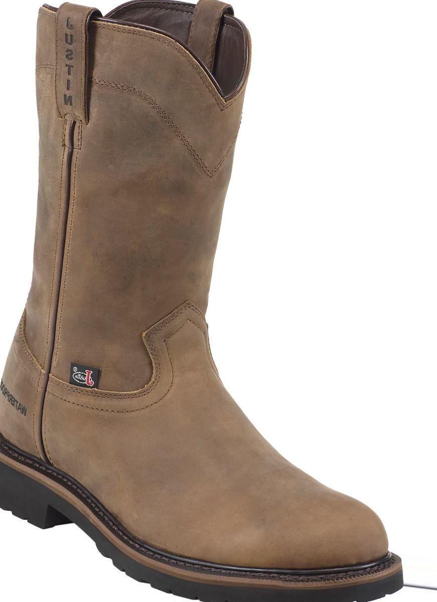 Justin Boots® Men's Wyoming Waterproof Steel-Toe Work Boots