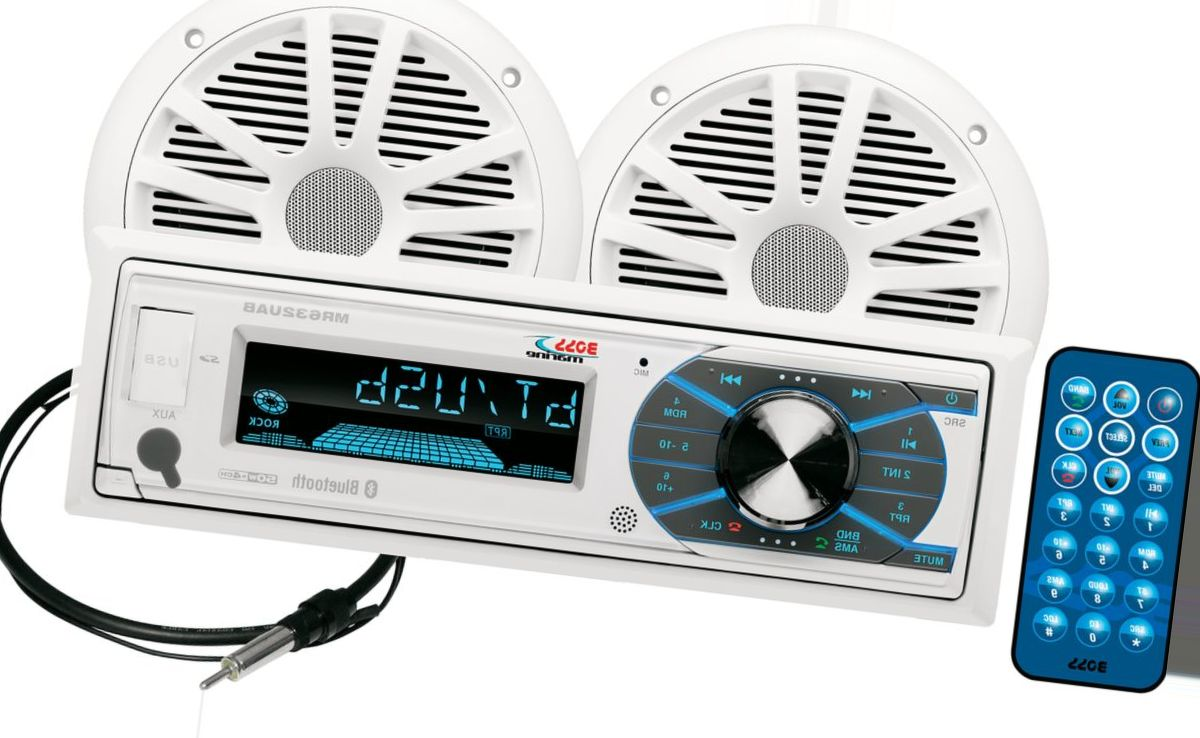 Boss Audio MCK632WB.6 Marine Stereo Package with Bluetooth®
