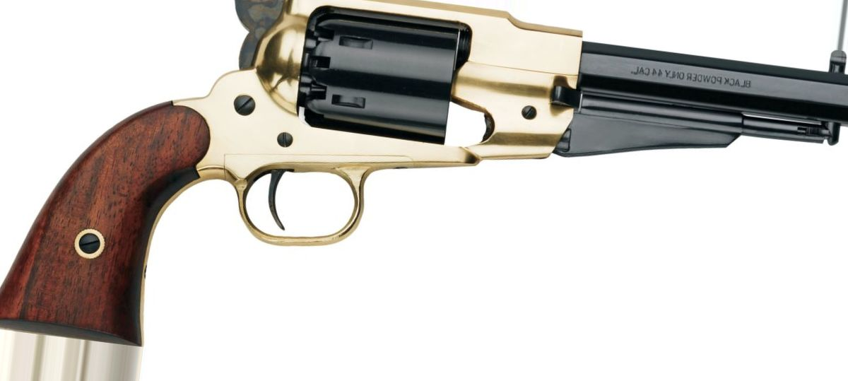 Pietta Model 1858 New Army Brass-Frame Sheriff .44-Cal. Black-Powder Revolver