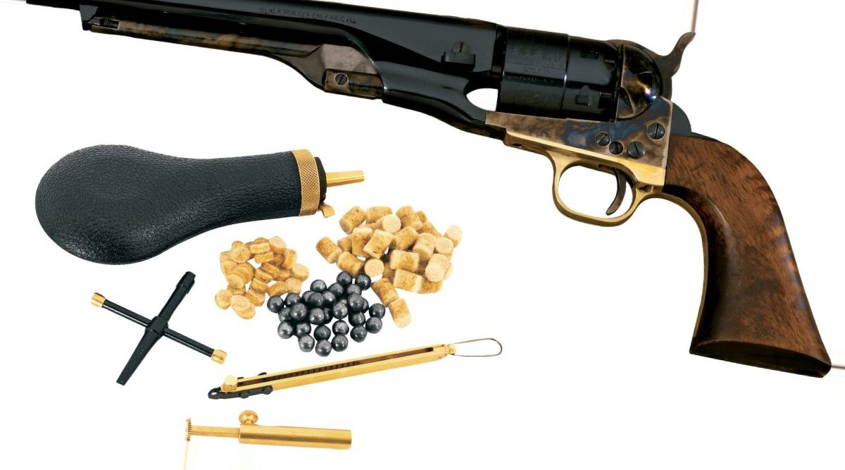 Pietta Model 1860 Army .44-Caliber Black Powder Revolver with Starter Kit