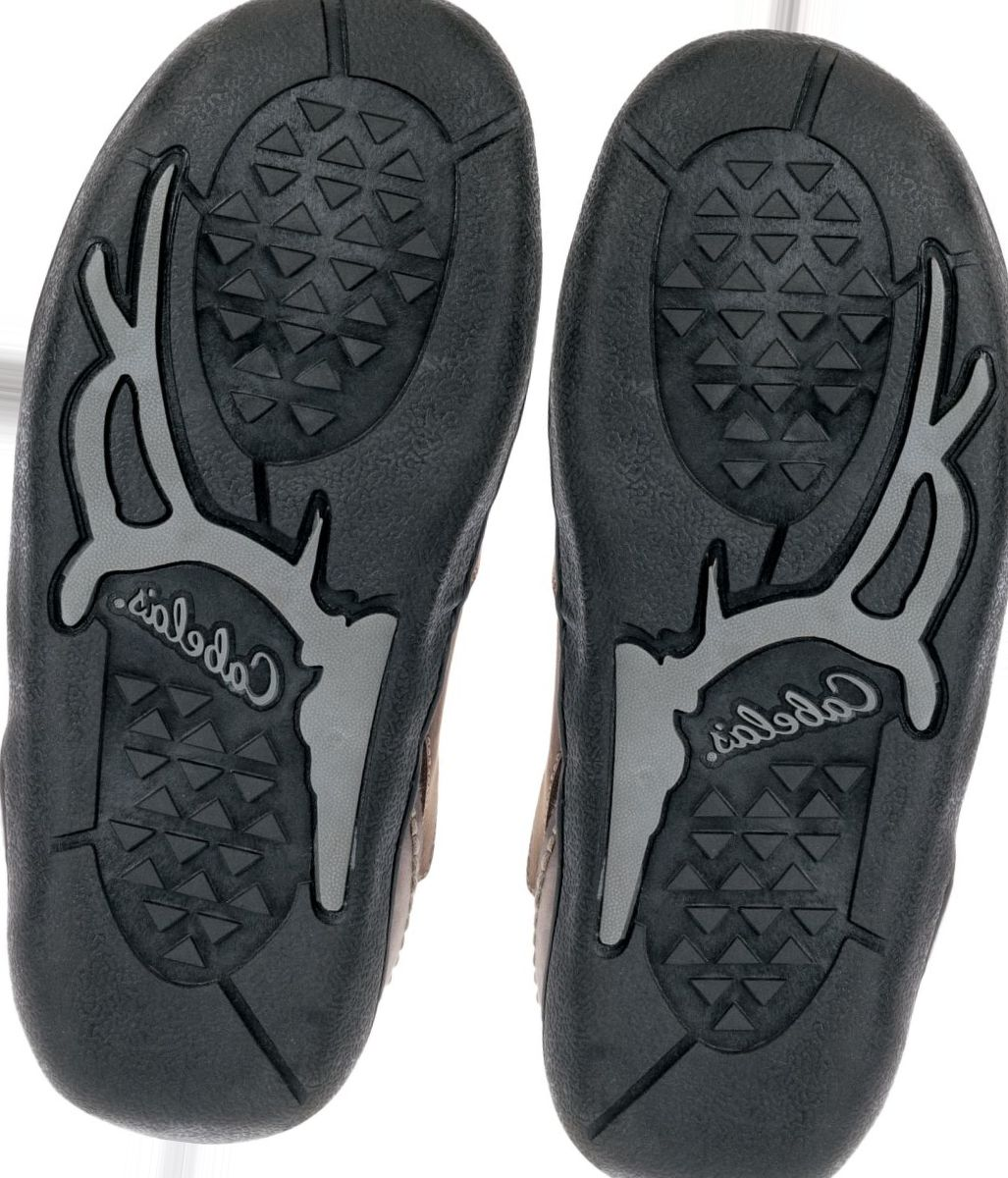 Cabela's Bomber Leather Shearling Slippers