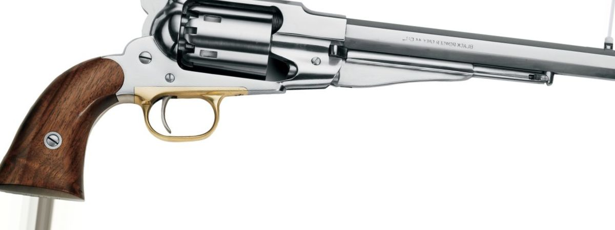 "Pietta Model 1858 New Army ""Old Silver"" .44-Cal. Black-Powder Revolver"