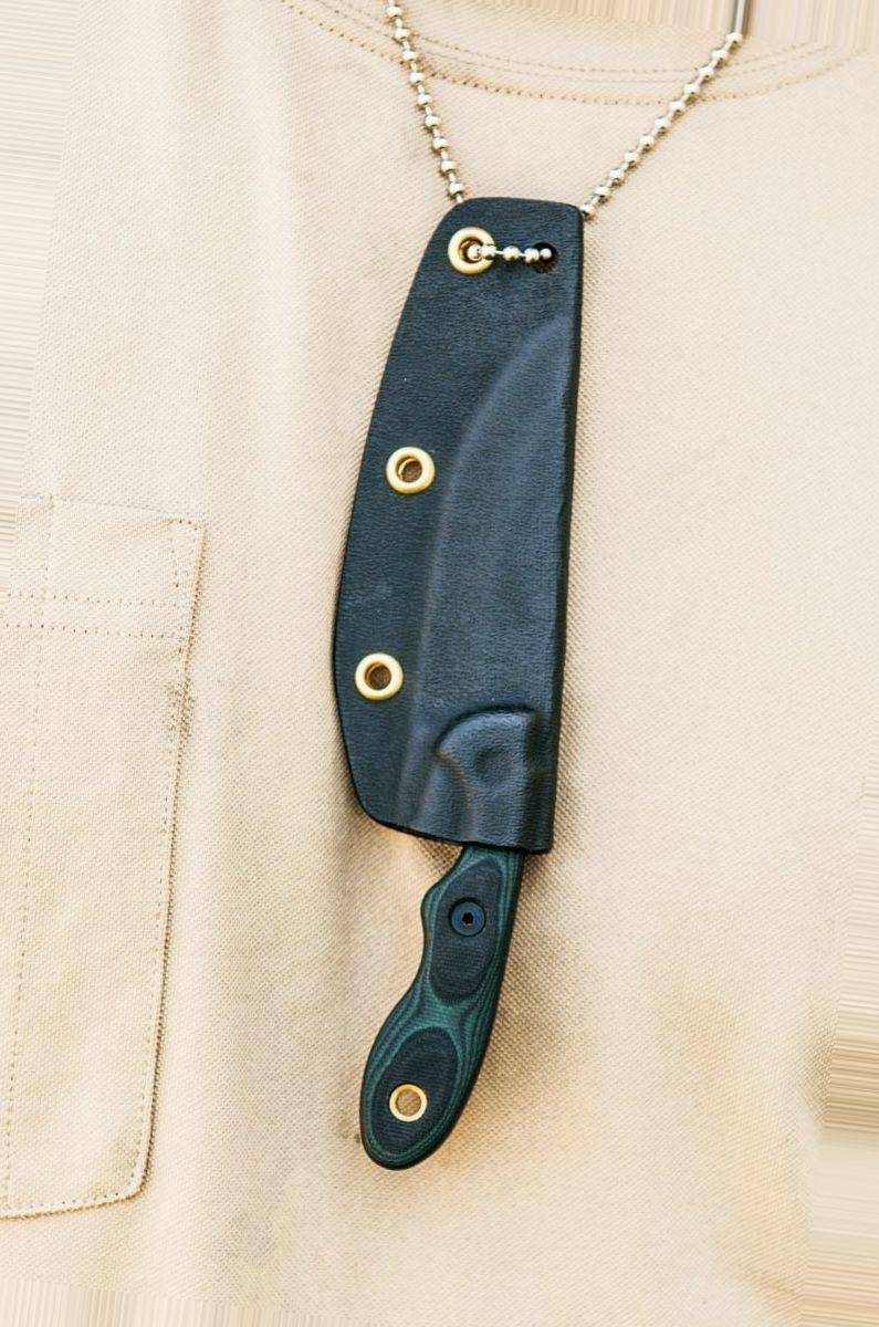 TOPS Knives Mini Scandi Green/Black G10 Fixed-Blade Knife