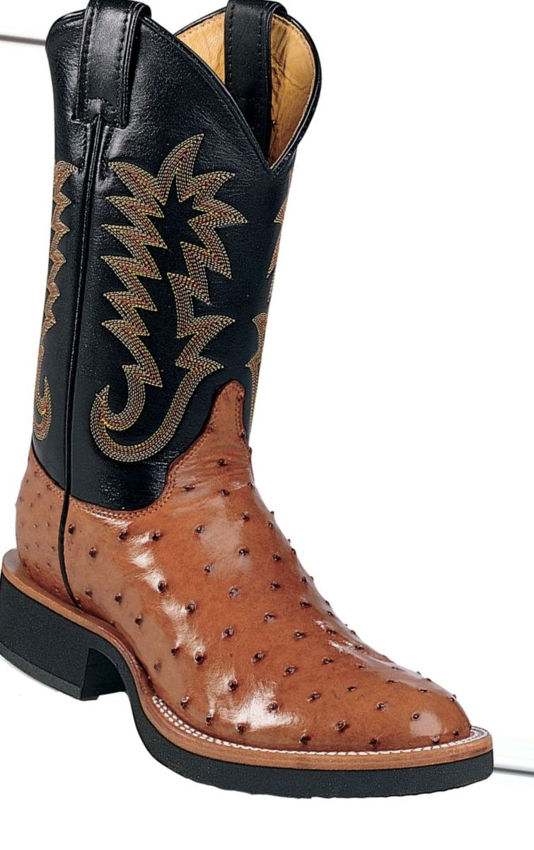 Justin Boots® Men's Full-Quill Ostrich Exotic Western Boots – Cognac