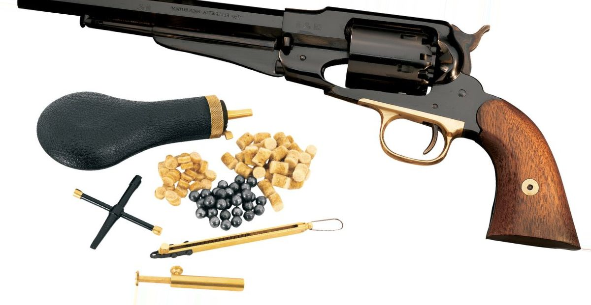 Pietta Model 1858 New Army .44 Caliber Black Powder Revolver with Starter Kit