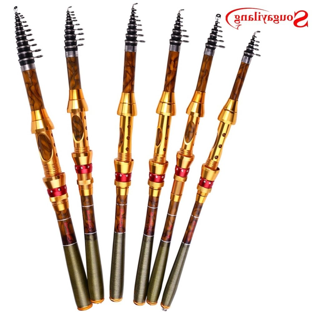 Sougayilang 1.8/2.1/2.4/2.7/3.0/3.6M Telescopic Fishing Rod Carbon Fiber Material Caro Fishing Spinning Rod Seawater Fishing Rod