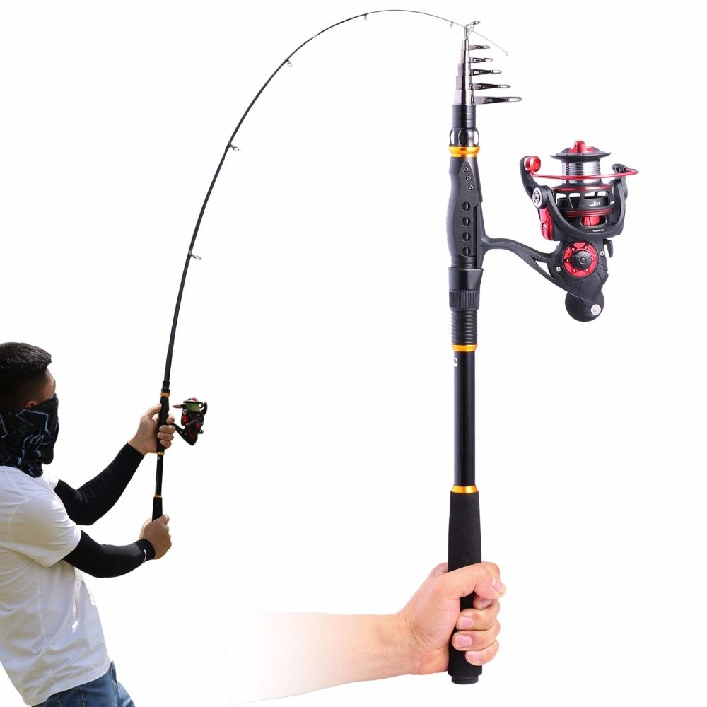 Sougayilang 1.8-3.3m Telescopic Fishing Rod and Spinning Reel Sets Portable Carp Fishing Rod Kit Fishing Reel Rods Combo pesca