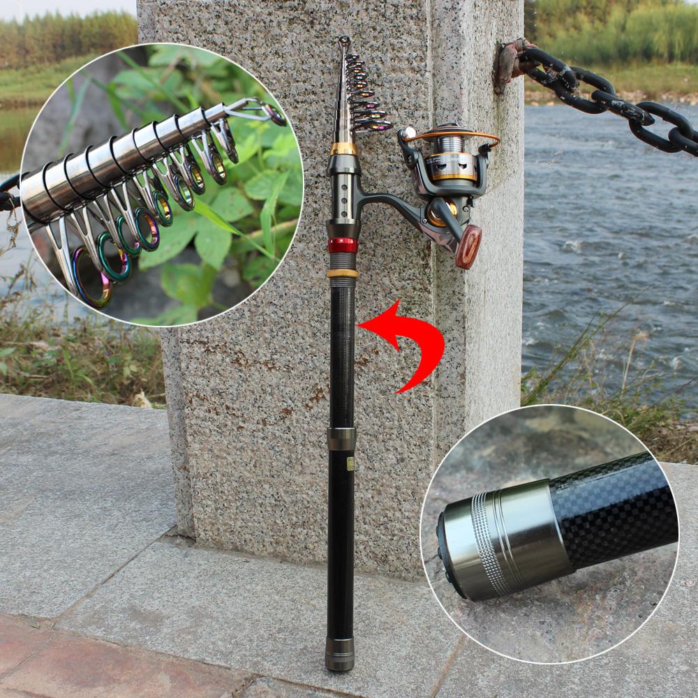 Sougayilang 1.8-3.6m Telescopic Fishing Rod and 11BB Fishing Reel Wheel Portable Travel Fishing Rod Spinning Fishing Rod Combo