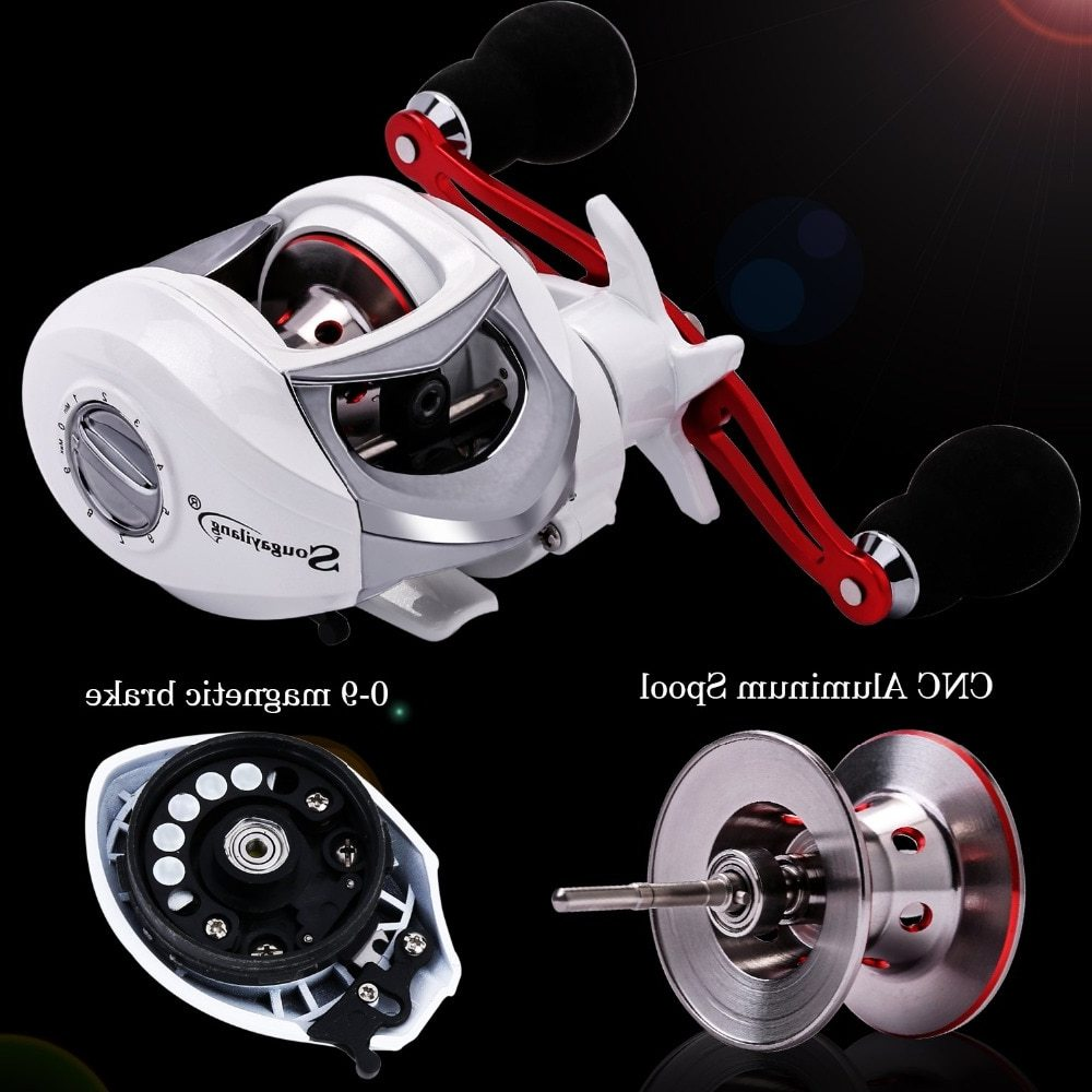 Sougayilang 2m Fishing Lure Rod and Baitcasting Reel Combo 4 Sections Carbon Spinning Rod and 19BB Casting Reel Sets Pole Pesca