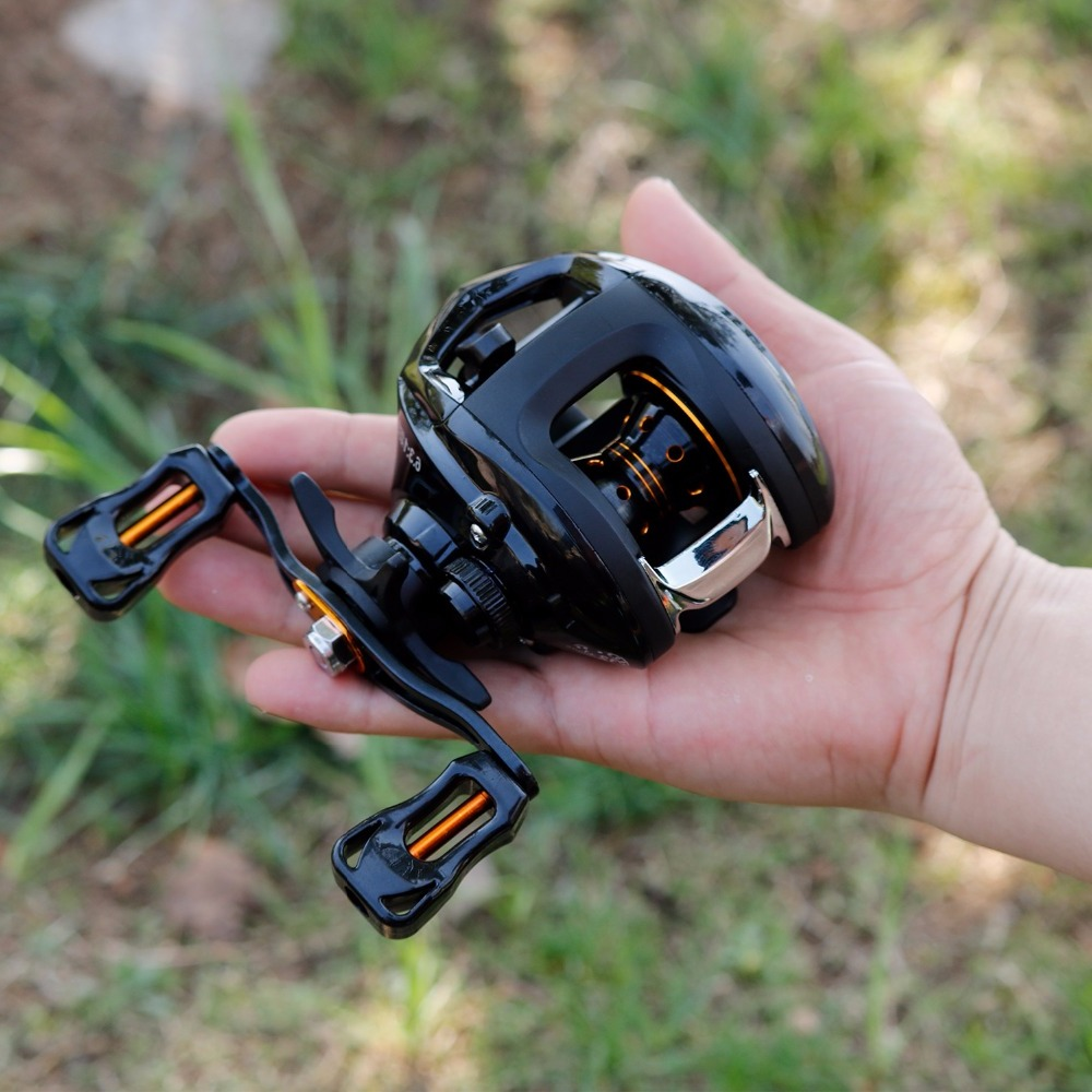 Sougayilang 6.3:1 Baitcasting Reel Wheels Strong Drag Power 13BB Right/Left Handed Carp Fishing Reel Max Drag 8kg Fish Tracking