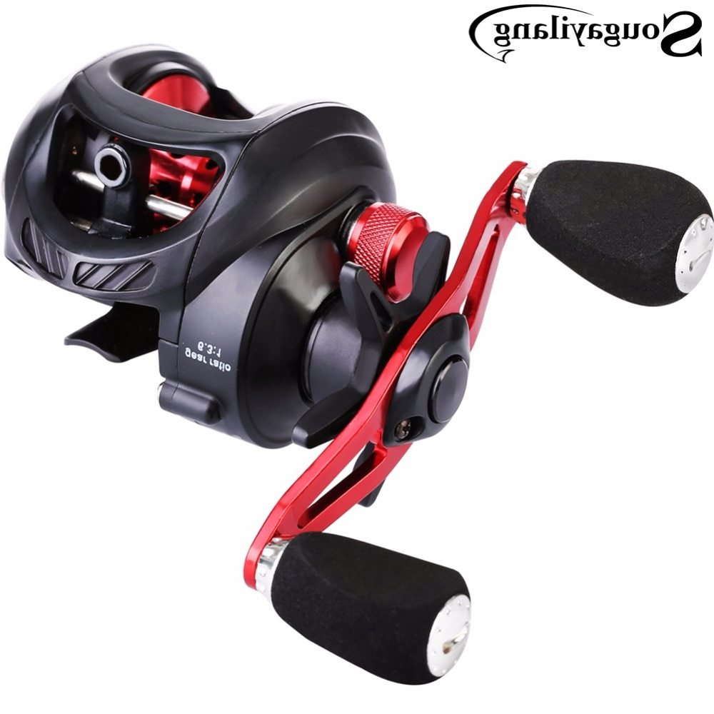 Sougayilang 6.3:1 Fresh/Salt Water Baitcasting Fishing Reel Carp Baitcasting Reel Lure Casting Reel Carbon Max Drag 7.5KG/16.5L