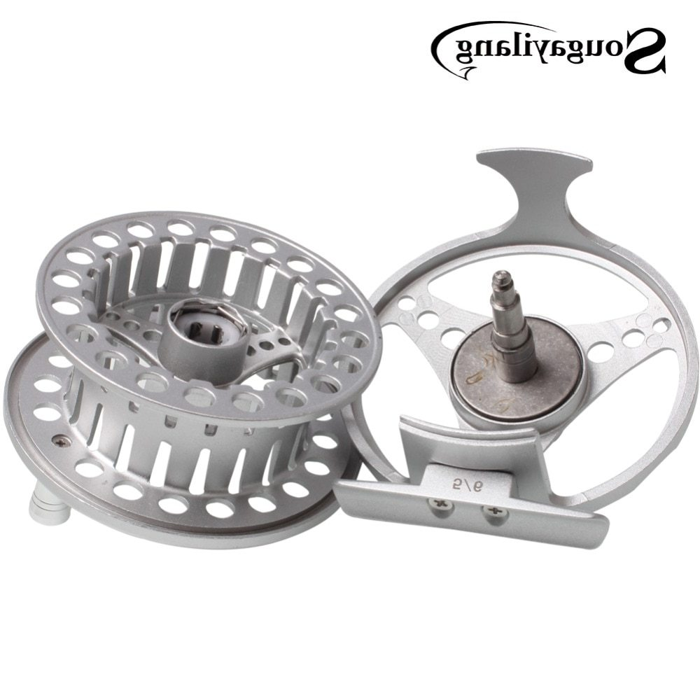 Sougayilang Aluminium Alloy Material Full Metal Body Fly Fishing Reel Ice Fishing Reels Freshwater Fishing Reel Tools Tackle