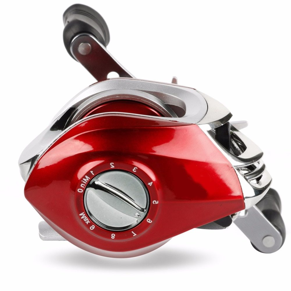 Sougayilang Baitcasting Reel 17.5LB Strong Drag Power 7.2:1 High Speed Right/Left Handed Reels Carp Fishing Reel Fishing Tackle