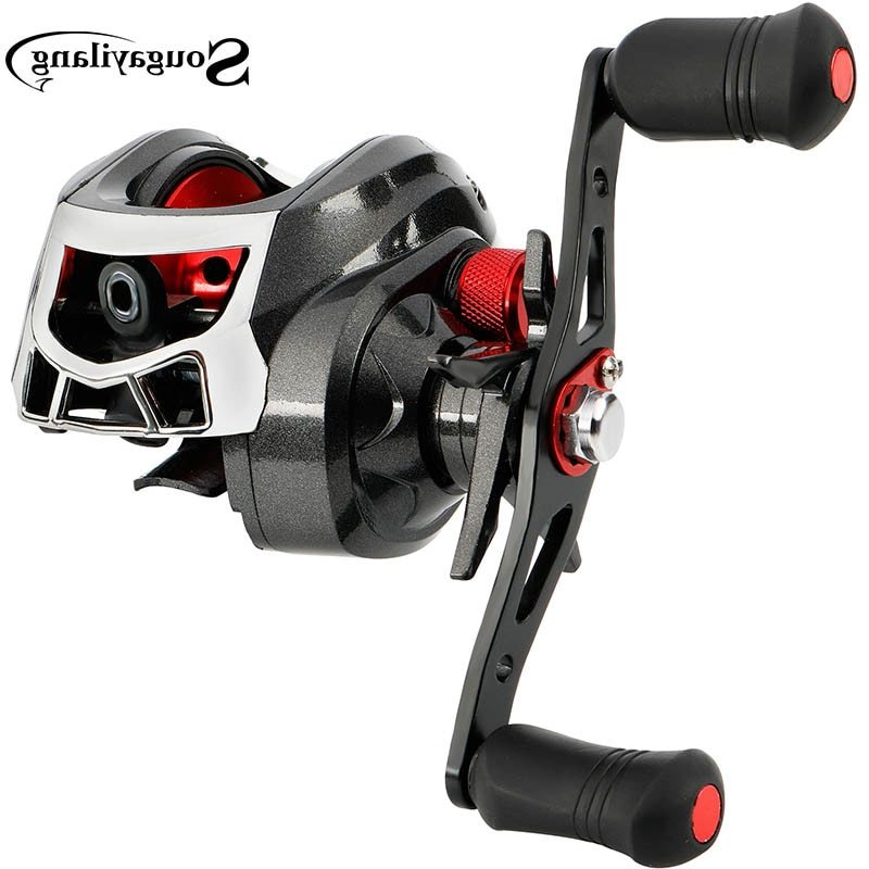 Sougayilang Baitcasting Reels 13BB Carp Fishing Gear Left/Right Hand Bait Carbon Fiber Casting Fishing Reels 8.5KG Max Drag Coil