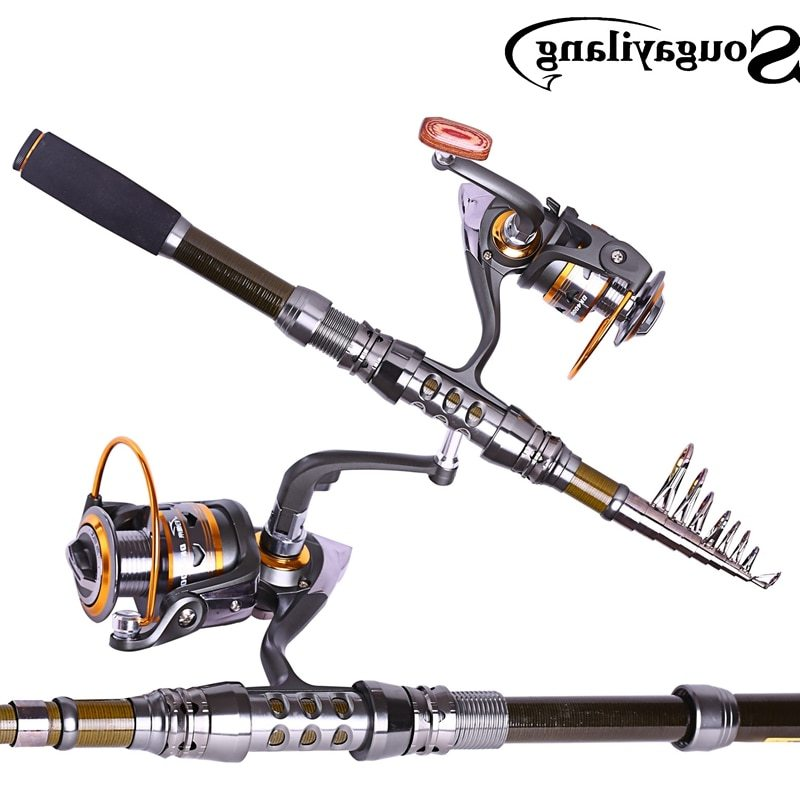 Sougayilang Brand 1.8-3.3M Telescopic Fishing Rod and 11BB Metal 5.2:1 Ratio Spinning Fishing Reel Rock Carp Fishing Tackle Set