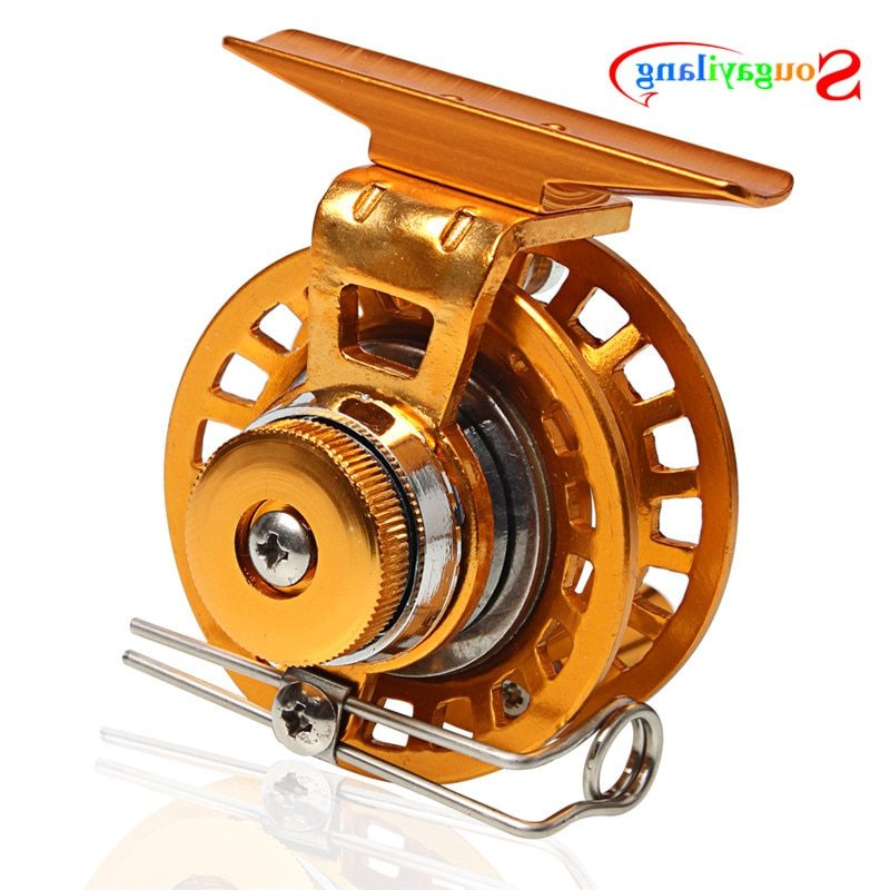 Sougayilang Brand 2BB CNC Aluminum Hardy Fly Fishing Reel Disk Drag River Trout Free Shipping