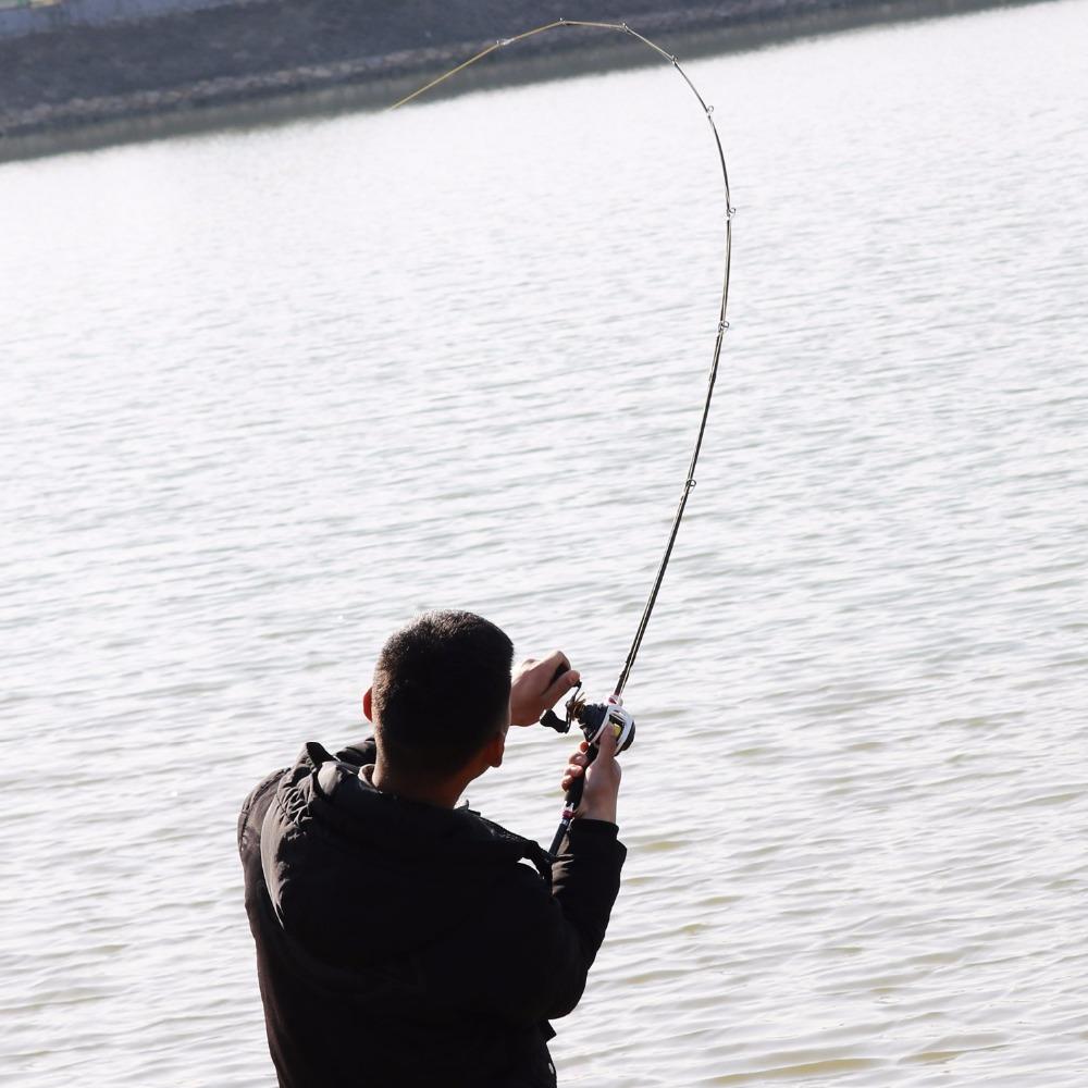 Sougayilang Carbon Fiber Rod BaitCasting Spinning Fishing Rod 4 Sections 2.15m Lure Rod Freshwater Salt Water Casting Travel Rod