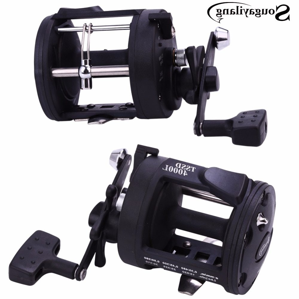 Sougayilang Drum Trolling Fishing Reels 3.8:1 3000L/4000L Baitcasting Fishing Coil Reel Wheel Spinning Fishing Reel Tackle