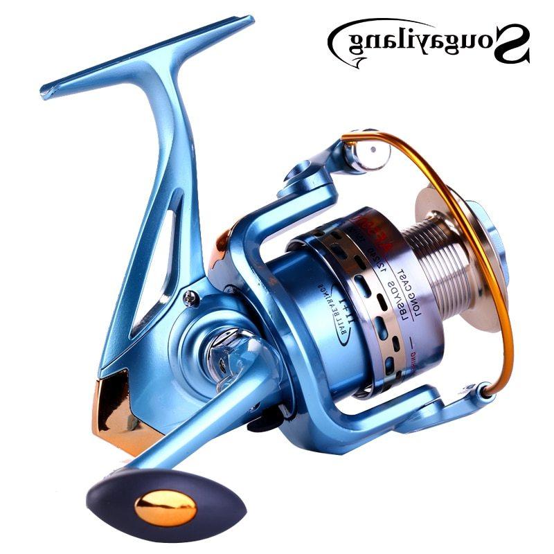 Sougayilang Full Metal Body High Quality Carp Fishing Spinning Reel 1000-5000Series Fishing Reel moden Design Fishing Reel Tools