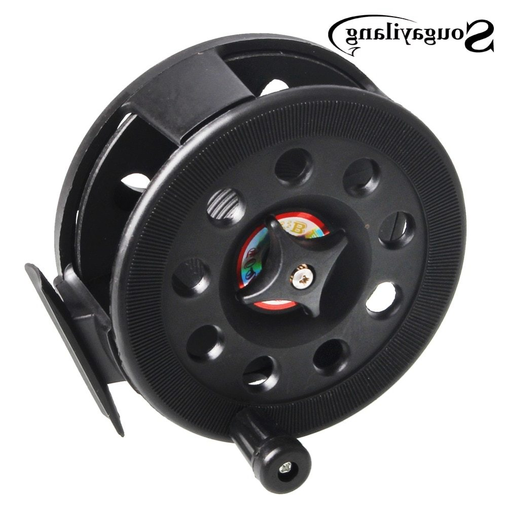 Sougayilang High Quality Plastic Material Fly Fishing Reel Former Ice Fishing Vessel Wheel Reels Saltwater Fishing Reel Tackle