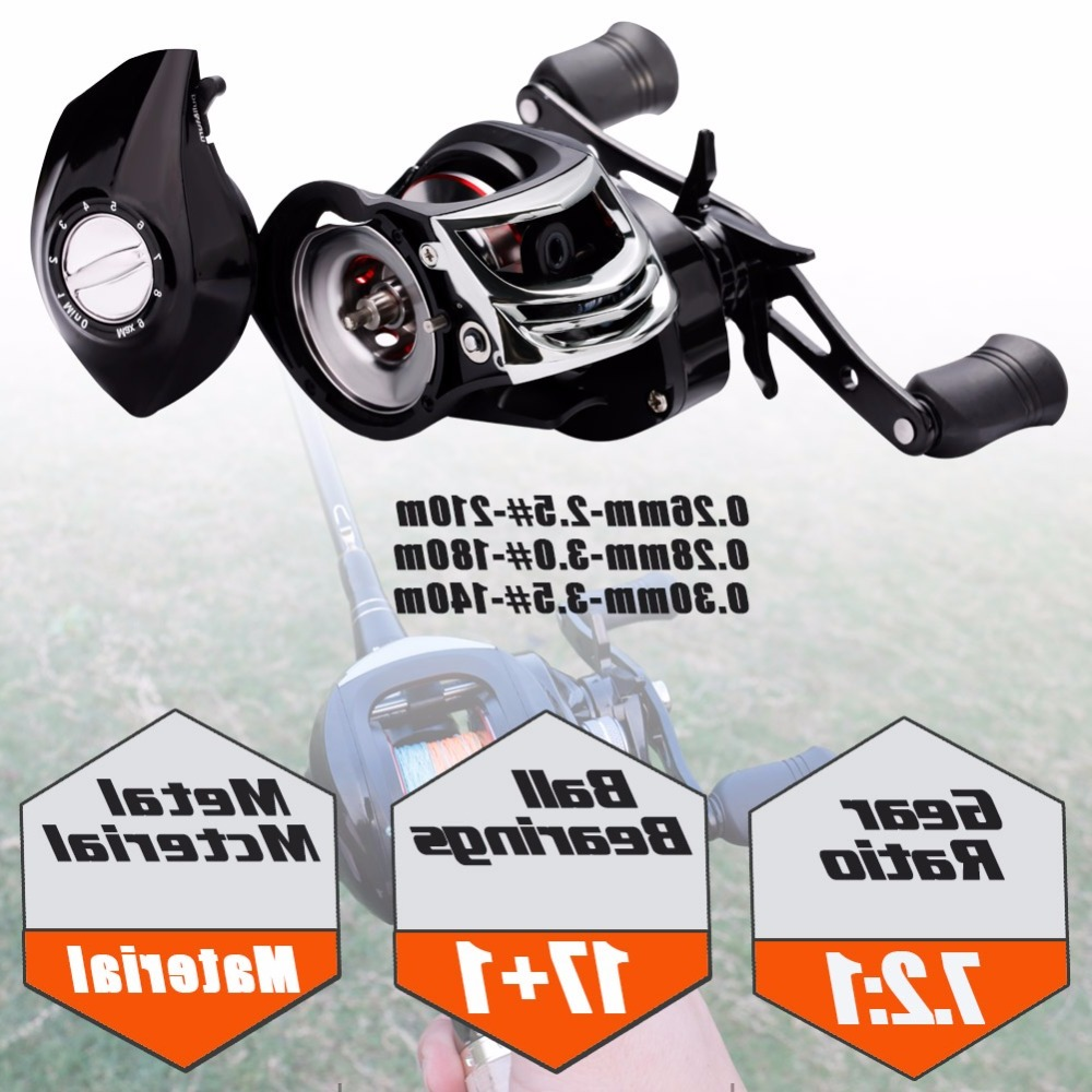 Sougayilang High Speed 7.2:1 Baitcasting Fishing Wheel Strong Drag Power 18BB Ball Bearings Right/Left Handed Carp Fishing Reel