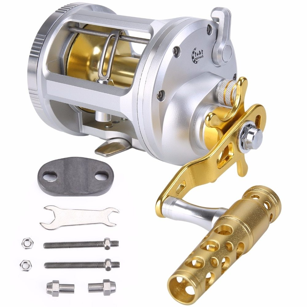Sougayilang Strong Trolling Fishing Reel Saltwater Freshwater Bait Casting Fishing Reels Right Hand Spinning Reel Trolling Reels