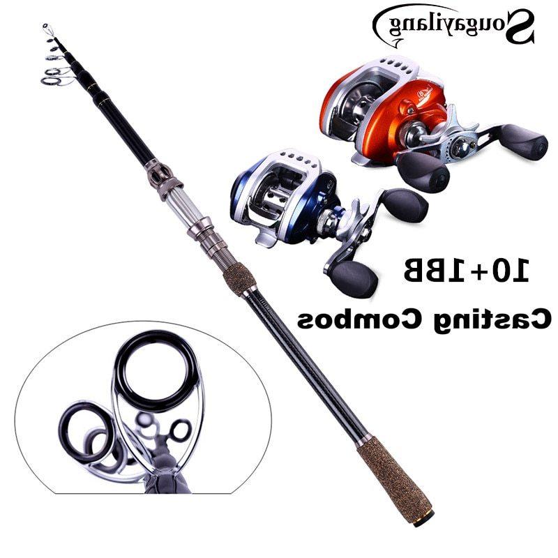 Sougayilang Ultra Light Baitcasting Combos 1.8-2.7M Fishing Rod Pole with Left/Right Hand Baitcasting Fishing Reel Set De Pesca