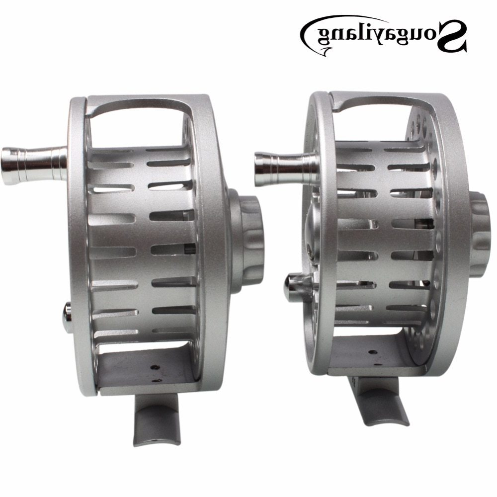 Sougayilang Winter Fishing Full Metal Body Aluminium Alloy Fly Fishing Reel Wheel Fishing Coil Wheel Fly Fishing Wheel Tackle