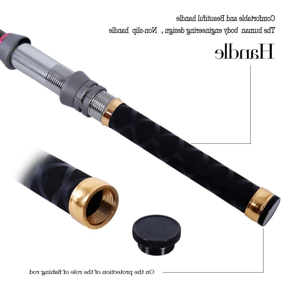 Sougayilang1.3-2.4m Rod Portable Carbon Fiber Pocket Telescopic Fishing Rod Mini Fishing Rod Spinning Rod Peche Vara De Pesca