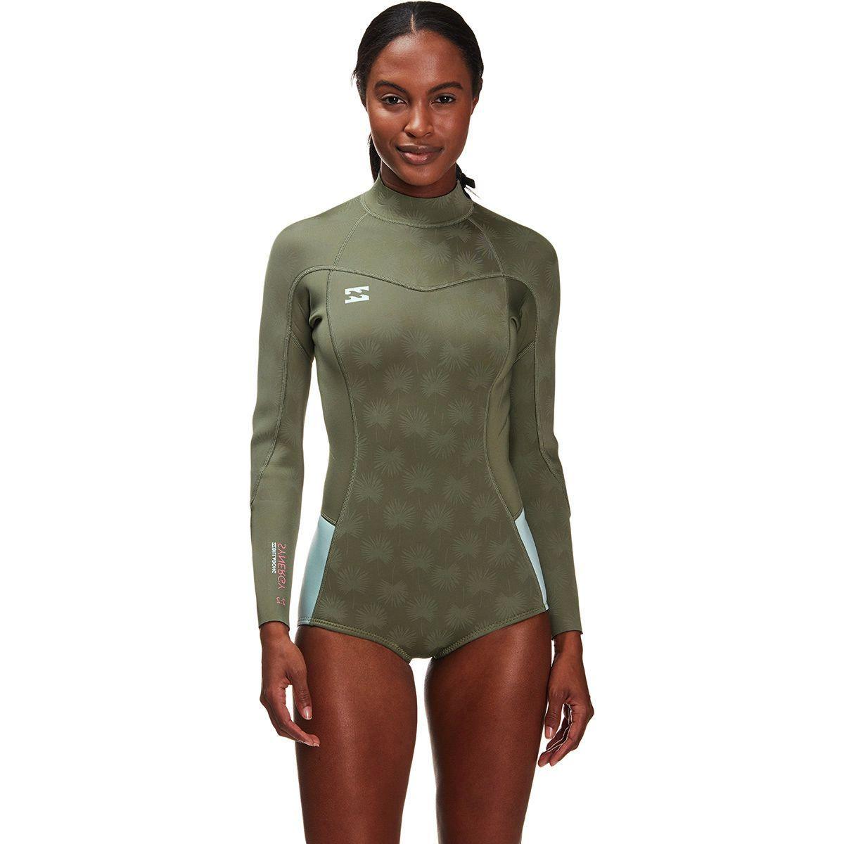 Billabong 2mm Synergy Back Zip Flatlock Spring Suit - Women's
