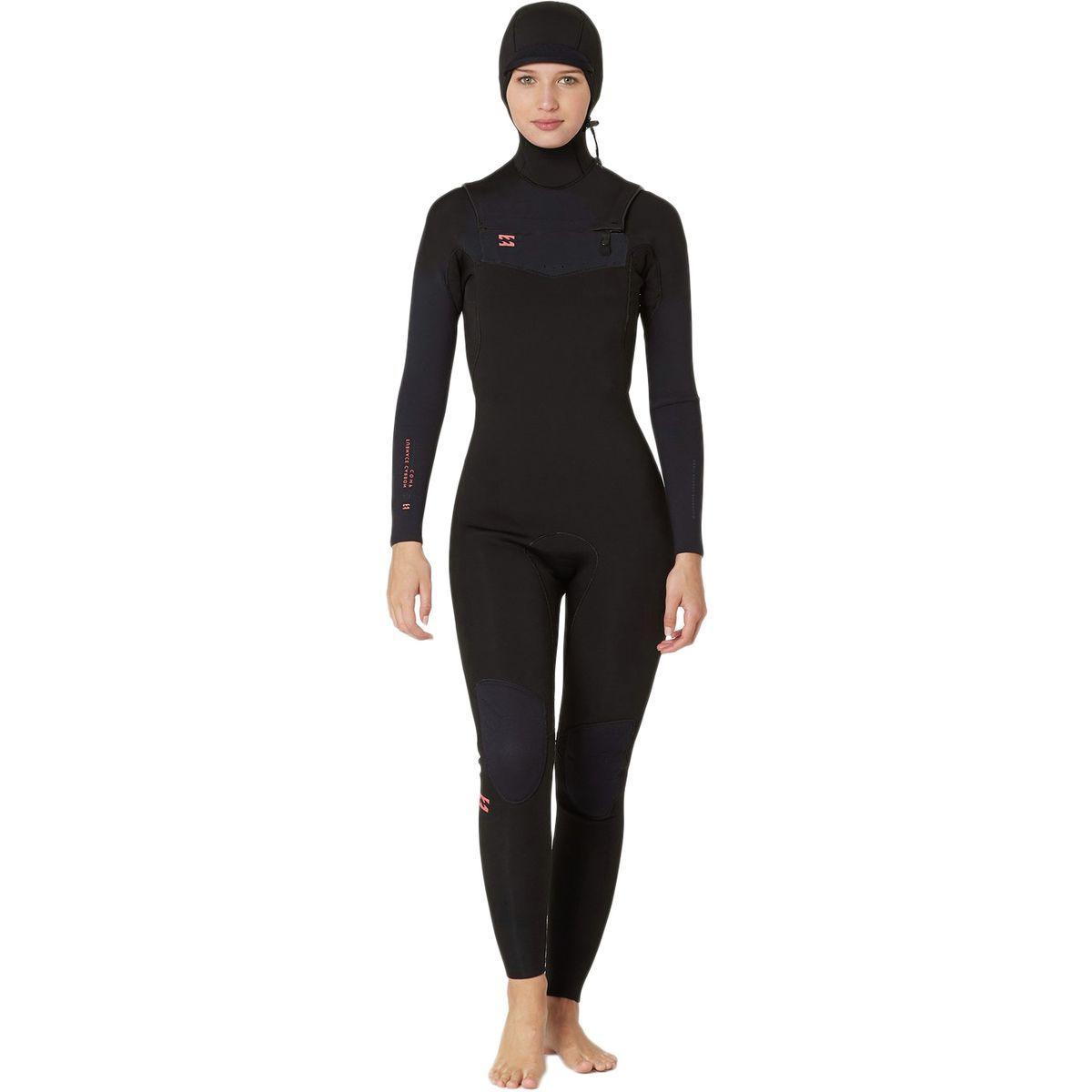 Billabong 5/4 Furnace Carbon Chest-Zip Hooded Wetsuit - Women's
