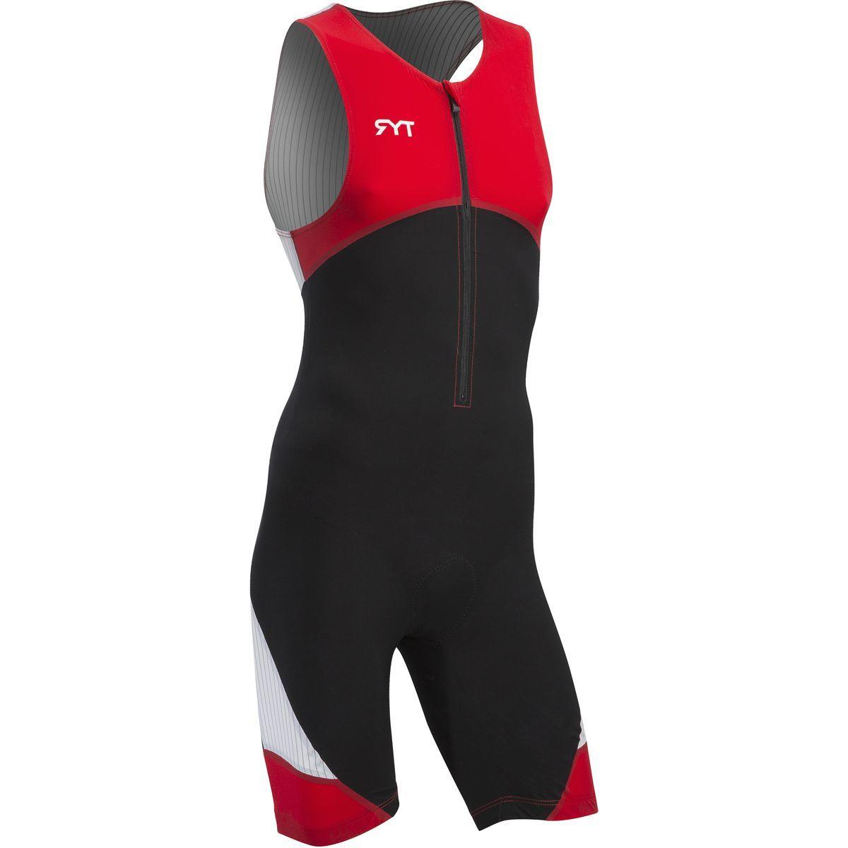 TYR Padded Carbon Front Zip Tri Suit - Men's