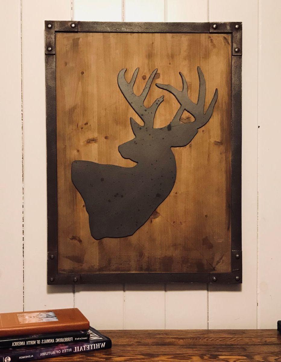 Tim Wolfe Deer MDF Wall Art