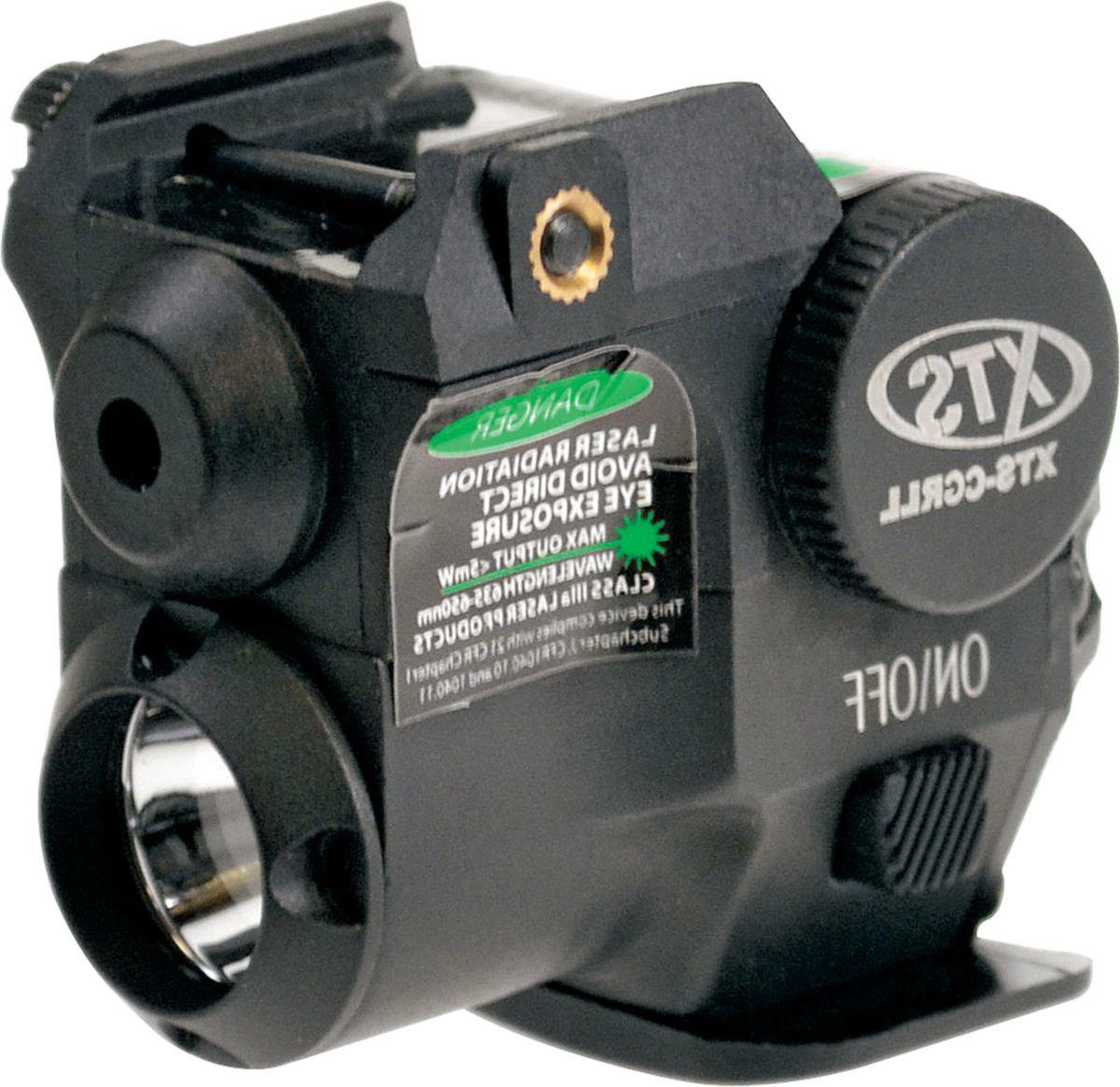 XTS Subcompact Green Pistol Laser and Flashlight Combo