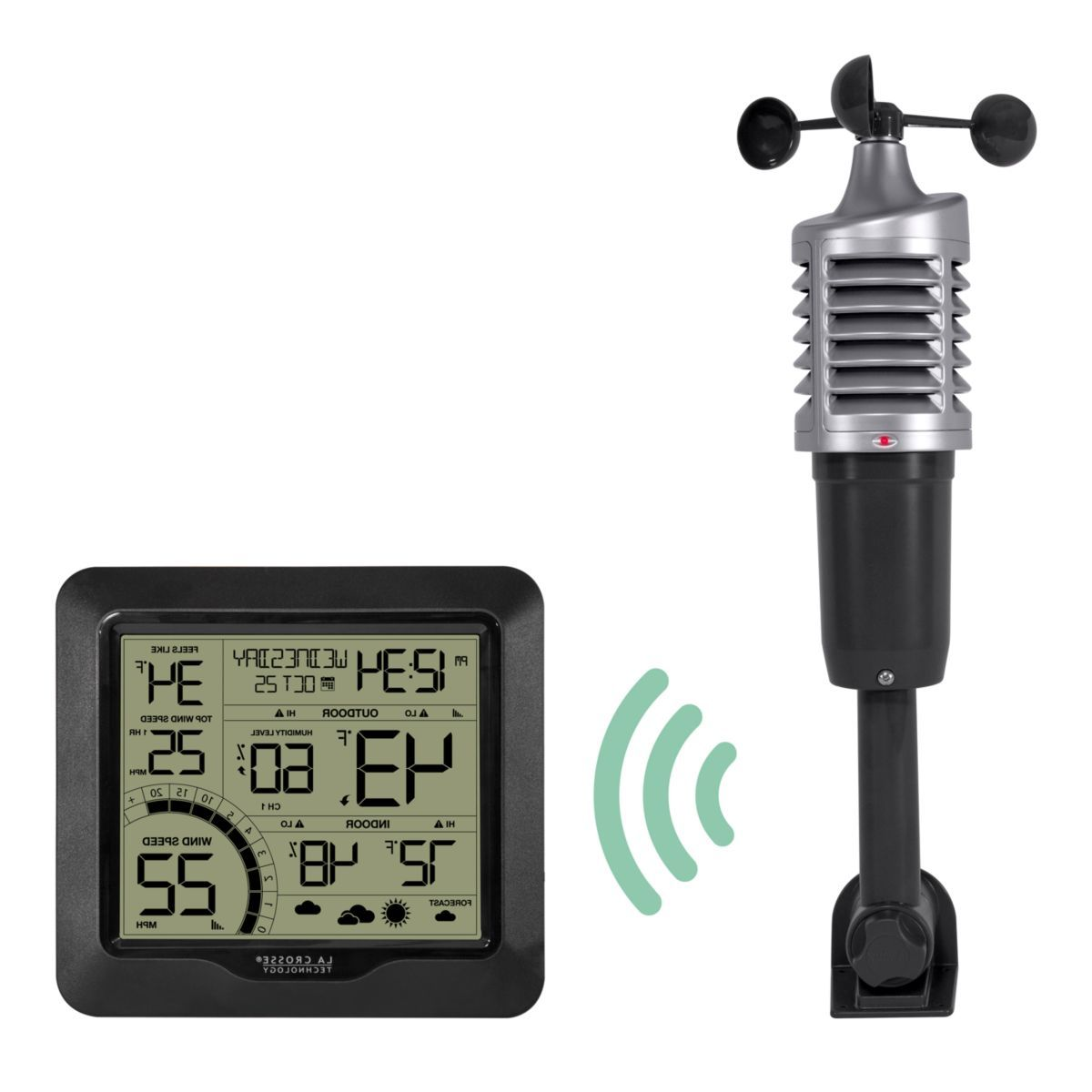 La Crosse Technology® 327-1417BW Wind Speed Weather Station with Combination 3-in-1 Sensor
