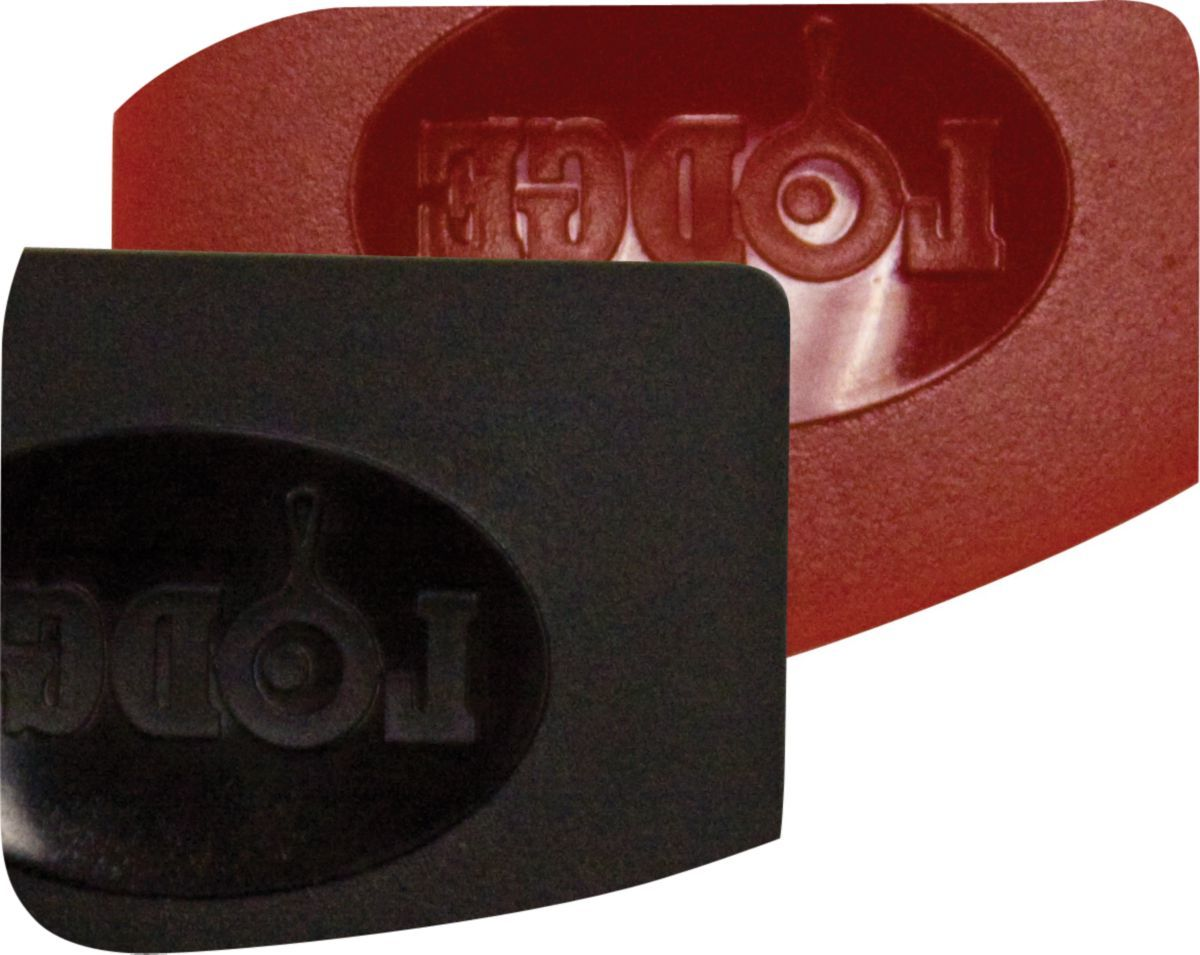 Lodge Red and Black Pan Scrapers Two-Pack