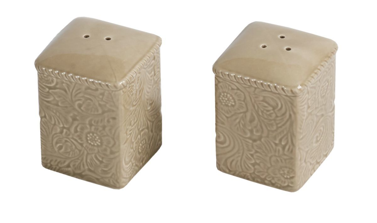 HiEnd Accents Savannah Taupe Salt and Pepper Shakers